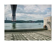 Alcntara, Lisboa (Sr. Cordeiro) Tags: street bridge portugal rio boat nikon barco stitch lisboa lisbon pano rover panoramic ponte panoramica stitching rua nikkor f18 tejo v1 ponte25deabril tagus underthebridge cristorei alcntara 185mm debaixodaponte pontesobreotejo