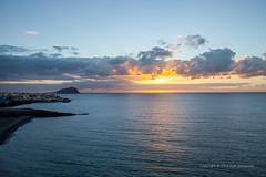 Atlantic sunrise (PeterJot) Tags: ocean travel sunset sky sun clouds spain europe scenic tranquility wave atlantic tenerife atlanticocean canaryislands macaronesia montanaroja