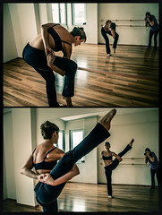 Bird/Paradise (Melissa Maples) Tags: woman selfportrait me yoga turkey studio nikon diptych asia photographer christina trkiye melissa antalya american brunette nikkor maples vr afs  dancestudio 18200mm  f3556g  18200mmf3556g d5100