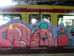 Graff in Berlin (brigraff) Tags: streetart berlin animal train painting drawing spray panasonic urbanart ubahn aerosol sprayart arturbain artedelacalle tz7 panasonictz7 brigraff