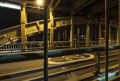 Just over the limit. (Callaghan69) Tags: longexposure nightphotography bridge night newcastle gateshead le lighttrails newcastleupontyne rivertyne highlevelbridge tyneandwear northeastengland