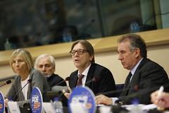 Marielle de Sarnez, Guy Verhofstadt, Franois Bayrou (PDE-EDP) Tags: guy logo marielle rond verhofstadt bayrou sarnez