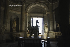 Hall of the Chariot.... (Katheryn Navas) Tags: light horse sun art silhouette bronze greek hall ancient venus roman scuplture marble chariot