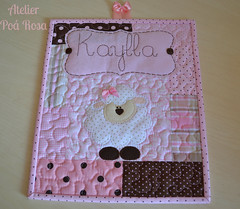 Porta de Maternidade (Atelier Po Rosa) Tags: rosa menina poa maternidade marrom ovelha quadrinho enxoval ovelhinha quartodemenina