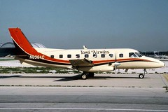 Chicago Midway Airport - Iowa Airlines - Embraer 110 (twa1049g) Tags: chicago airport 1988 110 iowa midway airlines embraer n830ac