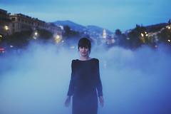 fog (visual_sigh) Tags: city blue france beautiful beauty fashion fog evening nice friend sweet style oldschool tenderness blackdress mixedblood