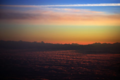 mountains above clouds (nic_r) Tags: cloud sun mountains alps clouds plane sunrise dawn flight alpine peaks