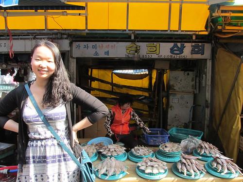 Avec Sue, Jagalchi Market, Busan, Corée du Sud