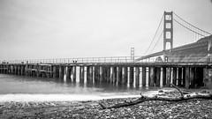 Horseshoe Bay (Jason Yattaw) Tags: california white black golden bay pier gate san francisco driftwood