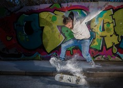 Urban Explosion (omarsaleem) Tags: lighting street urban motion canon graffiti colours mark vibrant iii flash explosion skateboard 5d skater flour ilford harman digbeth 2470mm babypowder 2470 600exrt ste3rt