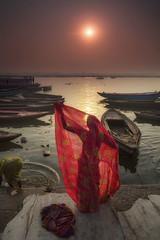 Embracing The Day (craigkass) Tags: travel india candid religion culture ritual hinduism ganga ganges benares varanassi