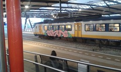 Graffiti Schiedam centraal (DGraffiti) Tags: art train graffiti nederland gta trein