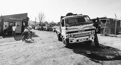 Nakiwogo Ferry Lineup (luke.me.up) Tags: bw ferry nikon trucks uganda lineup d800 entebbe nakiwogo