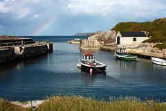 Ballintoy Harbour (dareangel_2000) Tags: weather coast rainbow harbour coastal maritime northernireland got blueskies northcoast ballintoy coantrim gameofthrones weatherphenomenon ballintoyharbour