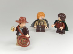 Unlucky Encounter? (TheBrickMaestro) Tags: one jones lego indiana lord ring lotr rings thief hobbit frodo baggins samwise gamgee