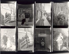 Jem Flash camera contact sheet , February 1988 (A CASUAL PHOTGRAPHER) Tags: families maryland museums contactsheets ellicottcity railroadstations shopkeepers snapshotcameras ellicottcityborailroadstationmuseum jemflashcamera