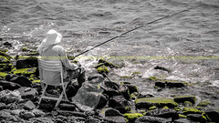 Fisherman (dr.7sn Photography) Tags: ocean sea plant green net silhouette fishing fisherman nikon rocks photographer redsea professional algae jeddah hooked cornish                      d7100     d5100   dr7sn