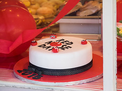 Heidi's Red Nose Cake Shop Emsworth (fstop186) Tags: charity red cake shop fruit square nose cafe comic day first olympus rednose historic relief icing sponge ever heidis em1 emsworth 2015 fundraisers lumixgvario100300f4056 rednosetown