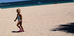 Pink Sandals (Andy Zito) Tags: ocean pink cute beach me girl wearing sand looking little florida sandals adorable cutie blond lauderdale ft