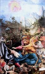 IMG_8154B Matthias Grnewald.(Mathis Gothart Nithart)  1480 1528. Actif en Bade Wtemberg (Souabe)  et Alsace.  Le retable d'Issenheim. 2me ouverture  Les Tentations de St Antoine.   The Temptations of St. Anthony. Colmar Muse Unterlinden. (jean louis mazieres) Tags: france museum painting muse colmar museo peintures peintres matthiasgrnewald retabledissenheim museunterlinden mathisgothartnithart