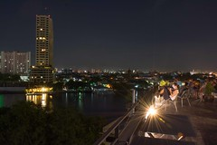 DSC_3682 (Ignacio Blanco) Tags: thailand night skyscrapers lights cityscape lighttrails riverviewguesthouse chaophrayariver buildings boats sunset dark bangkok chinatown vantage streetphotography