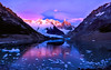 Ice & Fire --- Standing High (Ping...) Tags: pink blue patagonia mountain snow reflection ice sunrise rocks stones iceberg frozenlake floatingice patagoniaargentina cerrotorre losglaciaresnationalpark lagunatorre