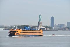 USCG Patrol alongside Staten Island Ferry (T.C.M.) Tags: new york city nyc staten island ferry uscg coast guard statue liberty