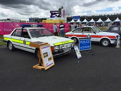 Old Police Cars (Marc Sayce) Tags: farnborough air show airport airshow airfield hampshire 2016 fia ford granada 28i escort rs2000 police cars