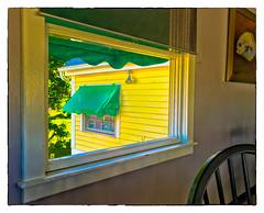 Awnings (Timothy Valentine) Tags: wednesday window 0716 breakfast 2016 restaurant vacation kennebunkport maine unitedstates us salthoney