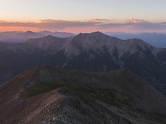Princeton Sunset from Antero (Aaron Spong Fine Art) Tags: princeton antero mt mount buena vista colorado 14ers 14er fourteener fourteeners peaks mountains mountain mountaineering sunset sunsets summit from over sawatch