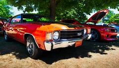 1972 Hugger Orange Chevelle SS (hz536n/George Thomas) Tags: summer copyright chevrolet canon michigan ss chevy canon5d flint carshow 2016 ef1740mmf4lusm cs5 sloanmuseum sloanmuseumautofair