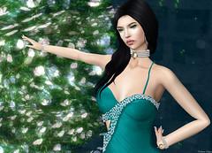KELINI - Sexy Summer Dress (Rehana MiSS SLVietnam, Face of CHOP ZUEY 2015) Tags: secondlife fashion rehana rehanaseljan newrelease kelini chopzuey laboheme opale posesion