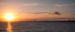 Atlantic sunset (Paul Millet) Tags: ocean sunset sea mer seascape france digital canon de landscape eos la soleil coucher filter baule filtre 2016 sunsky nd400 50d
