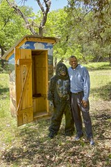 gorilla who causes reverse outhouse runs (Pejasar) Tags: outhouse gorilla costume prank cypressspringsranch texas