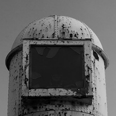Look Out (hughdiniphoto) Tags: hull humber eastyorkshire watchtower blackandwhite