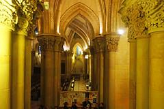 Sagrada Familia. Entrance to the crypt (Andrey Sulitskiy) Tags: spain barcelona gaudi sagradafamilia