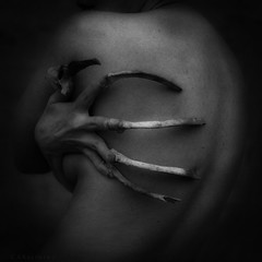 Inside Out, Disarranged (CSKalinsky) Tags: portrait selfportrait bones concept conceptual darkart impliednude