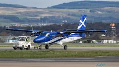 G-SGTS DHC-6-400 Twin Otter Loganair (kw2p) Tags: aircraft airlineoperator airport aviation dhc6400twinotter dehavillandcanadaviking egpf egpfgla gsgts glasgowairport loganair cn918 paisley scotland unitedkingdom gb