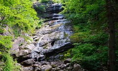 Beulach Ban Falls (TheNovaScotian1991) Tags: waterfall rocks geology trees capebretonhighlands capebretonisland novascotia canada beulachbanfalls victoriacounty nikond3200 kitlens 1855mm inukshuk
