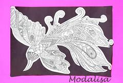 Oeuvre de ma fille Modalisa (Leelooart) Tags: modalisa art artiste crayon encre aquarelle color colorful talents