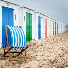 England In The Summer (Sean Batten) Tags: beach deckchair beachhuts woolacombe england unitedkingdom gb devon nikon d800 2470 sand