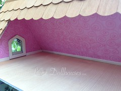 IMG_0409 (AcornLaneDollhouses) Tags: westville greenleaf dollhouse handcrafted finished interior wallpaper shingles