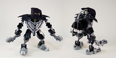 Gar (0nuku) Tags: bionicle lego matoran 2007 mahrinui earth black clubs onu komau custom 3dprint kanohi