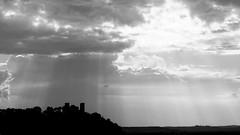 Ombre sur le chteau (Pascal.M (bong.13)) Tags: chateaurenard chateau nuages cloud noiretblanc blackandwhite bouchesdurhone provence france ciel lumire light sonyrx100