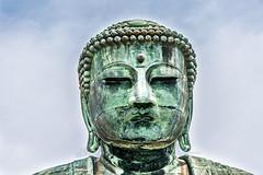 Buddha Face (GimpRider) Tags: japan buddha statue bronze kamakura kotoku giant colossal big green face kanagawa