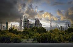 twilight (jjdraft) Tags: texture topaz plant exxon