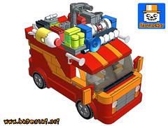 GHOSTBUSTERS CHINESE RESTAURANT VAN (baronsat) Tags: lego scooby van ghostbusters chinese custom instructions