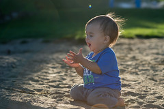 I love the beach! (westcoastcaptures) Tags: minolta8020028apohsg sonya99 candid child happiness joy beach backlit