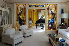 Graceland (pburka) Tags: elvis presley graceland memphis tennessee tn interior stainedglass furniture peacock piano