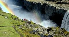 La Cascada Dettifoss. Islandia. (lameato feliz) Tags: cascada islandia arcoiris can rocas